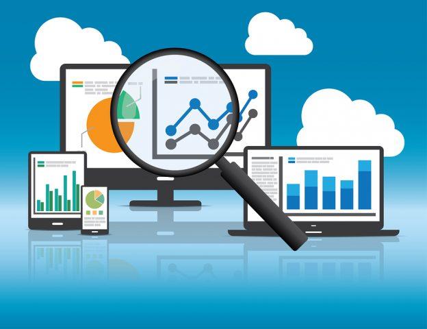Website analytics and SEO data analysis concept.
