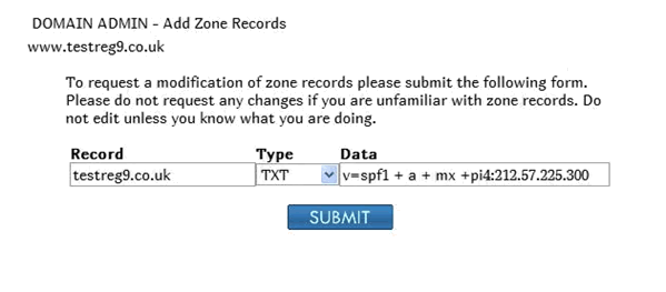 how to add spf record